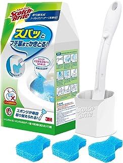 3M Scotch Brite 思高百利 厕所清洁刷 刷柄+替换头3个 带清洁剂 T-557+3HC