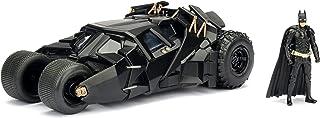 Jada Toys DC Comics 2008 黑暗骑士,蝙蝠车与蝙蝠侠人物模型,1:24比例的收藏型金属压铸车