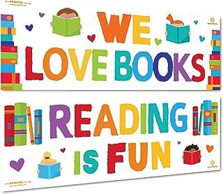 Sproutbrite 课堂装饰 - 教师阅读横幅和海报 - 课前、小学和中小学公告板和墙饰