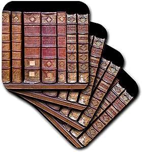 3dRose France, Corsica, Books, Ajaccio Municipal Library - Eu09 Ssm0020 - Scott T. Smith - Soft Coasters, Set of 4 (cst_81696_1)