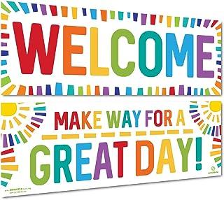 Sproutbrite 课堂装饰 - 教师欢迎横幅和海报 - 公告板及墙饰 适用于学前、小学和中学
