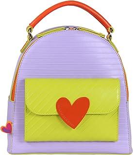 Agatha Ruiz de la Prada(阿加塔·鲁斯·德·普拉达)彩色花呢双肩包紫色-大地·路易斯·德·普拉达 (Bloques Backpack Morado-Agatha Ruiz de Prala da)