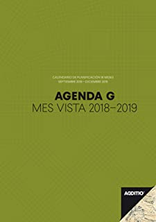 additio P182 - Agenda G 2018-2019 学生月视图