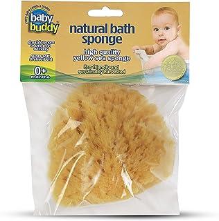 Baby Buddy 天然婴儿沐浴海绵 4 英寸软黄色海绵柔软柔嫩婴儿皮肤,可生物降解 黄色 1包