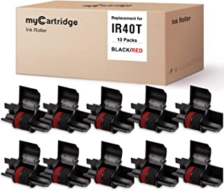 MYCARTRIDGE IR-40T CP-13 NR-42(10 件装)兼容计算器墨水滚筒替换件适用于 Casio IR-40T Citizen CP-13-黑色和红色