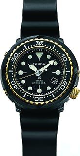 Seiko Prospex 太阳能潜水手表,配黑色硅胶表带 200 米 SNE498