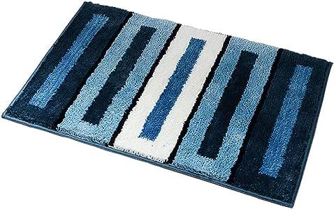 厨房地毯,O'Family 门地毯带橡胶底防滑超细纤维门垫内部小地毯 蓝色 17.7'' x 25.6'' 43263-57761