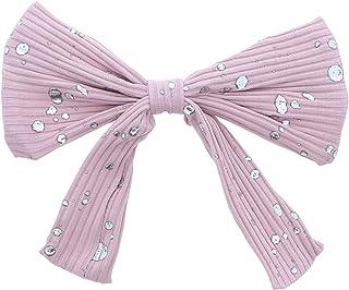 20.32 厘米蝴蝶结发夹 带银色飞溅夹 - 粉色 均码