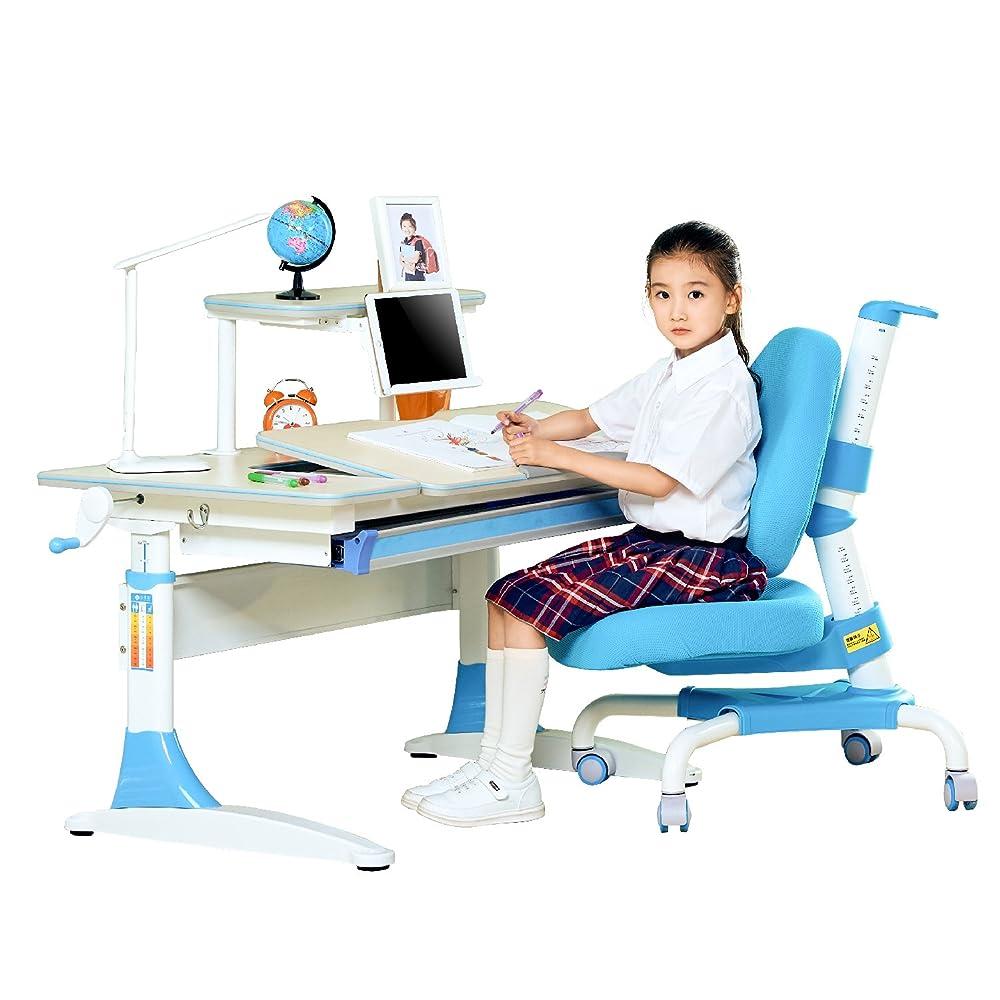 心家宜 手摇机械升降儿童学习桌椅套装M112+M207 送读书架+原装椅套+晒单送台灯