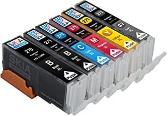 6 盒 Skia 墨盒 适用于 PIXMA MG7720 CLI-271 PGI-270 兼容墨盒 CLI271 PGI270
