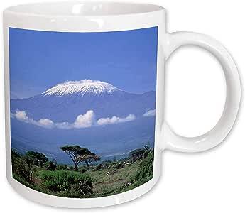 Danita Delimont - Mountains - Africa, Tanzania, Mt Kilimanjaro, landscape and zebra-AF45 GJE0018 - Gavriel Jecan - 15oz Mug (mug_73850_2)