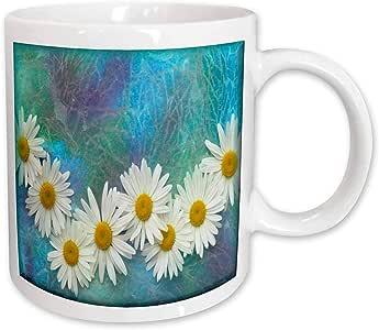 3dRose Daisy Chain Ceramic Mug, 11-Ounce