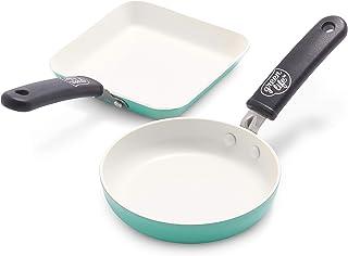 GreenLife GreenLife 迷你方形烤盘和迷你圆形蛋盘套装,蓝绿色 - CW002438-002
