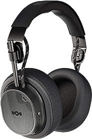 House of Marley Exodus ANC 无线可折叠耳机 - 主动降噪,28 小时电池,50 毫米高分辨率驱动器,*泡沫耳垫,由可持续材料制成 - 黑色