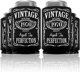 复古 30 至 70 岁生日罐冷冻派对礼品有 6、12、24 和 48 个装 50 号