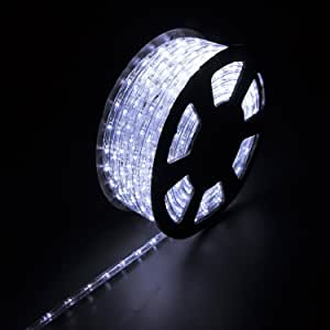 Diophros 50FT 绳灯,室内室外绳灯,防水装饰照明,后院花园和派对装饰... 100Ft/30M