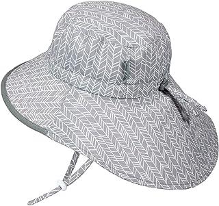 JAN & JUL GRO-with-Me 棉质探险帽 | 50+ UPF 可调节幼儿太阳帽,适合婴儿和儿童