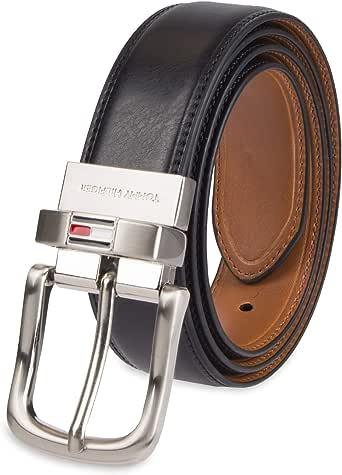 Tommy Hilfiger Men's Stitched Reversible Black/Tan Belt Sz: 38
