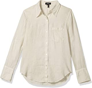 Theory 女式修身领系扣衬衫