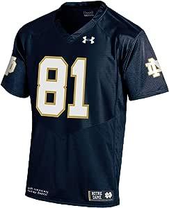 NCAA 圣母大学爱尔兰战士 81 男士仿品橄榄球运动衫,L 码,*蓝