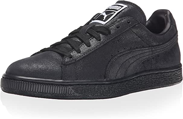 PUMA 女士绒面革经典 MATT&Shine WNS-W 运动鞋 黑色 5.5 M US
