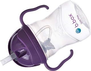 b.box 吸管杯,带创意加重吸管哑光盖,易握手柄,颜色 葡萄色