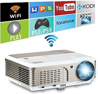EUG 3900 流明数字 LCD LED 电影投影机无线便携式家庭娱乐投影仪适用于手机 PC 笔记本电脑 DVD 安卓盒游戏控制台带 HDMI VGA USB Ypbr 音频