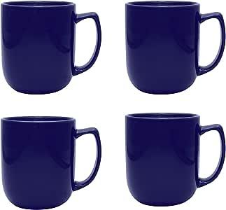 Culver Noble 陶瓷马克杯 17盎司4件套 午夜蓝 17 Ounce COMINHKG109635