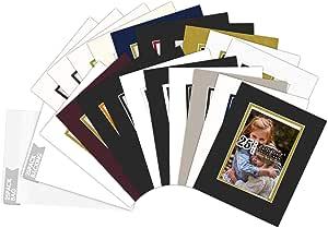 """金州艺术,混合颜色包 20.32x25.40 图片双层衬垫 适用于 12.70x17.78 照片 + 背衬 + 袋 混合 8"""" x 10"""" 25-Pack Mix Colors Complete Set 8x10"""