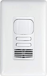 HUBBELL LIGHTING LightHAWK 双技术墙壁开关传感器 LHDCMTD2-N-WH,白色,象牙色,浅杏色,灰色,黑色