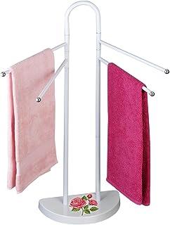 Wenko 76231500 毛巾架玫瑰浪漫衣服架,钢质,18 x 33 x 94 厘米