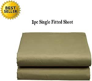 Elegant Comfort 奢华超软单面床单或床笠特殊*结构单人床、普通双人床、大号双人床、加州大号双人床、白色,灰色,黑色 淡紫色(Sage) Queen Fitted Sheet 1