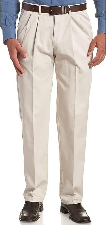 Haggar 男士加大加长工作到周末隐藏式可扩展腰部褶边长裤 String 46W x 29L