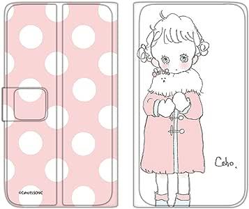 caho 翻盖保护套超薄翻盖印花外套与少女手机保护壳翻盖式适用于所有机型  コートと少女C 2_ Xperia A2 SO-04F