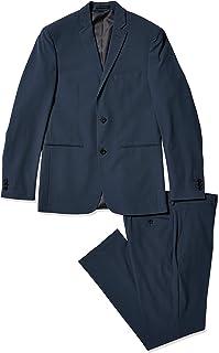 Perry Ellis 男式 2 件套可机洗西装