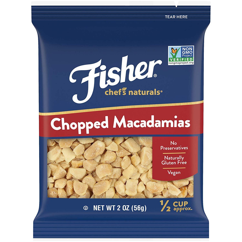 FISHER Chef's Naturals 切碎夏威夷果, 无防腐剂,2盎司(56克) (12件)