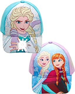 Disney 女童混色棉质棒球帽,2 件套,适合 2-7 岁儿童