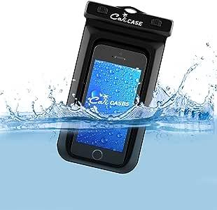 "calicase 漂浮防水保护套 ( Universal )–Apple iphone 6s 66+ PLUS , SAMSUNG GALAXY S6edge S5, Galaxy Note 5432, HTC ONE M8M9, LG G4G3G2, Moto G X PLAY 纯, Droid Turbo , OnePlus One 2–适合划船 / 皮划艇 / 漂流 / 游泳,干包袋保护您的手机 from 防水,防沙,防尘和 dirt–IPX8认证 TO 100英尺 黑色 Universal (Up to 6"" phone diagonal size)"
