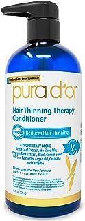 PURA D'OR 头发稀疏护发素,含有有机摩洛哥坚果油,生物素和天然成分,16盎司(约473.2毫升),包装可能有所不同