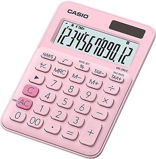 Casio 卡西欧 MS-20UC-PK 台式计算器 12 位 2.3 × 10.5 × 14.95 厘米 浅粉色 2.3 x 10.5 x 14.95 cm 淡粉色