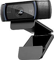 Logitech C920 HD Pro Webcam für AMZ (Videogespräche und -aufnahmen in Full HD und 1080p, dualer Stereo-Sound, Gaming-Streams, zwei Mikrofone, klein, vielseitig, anpassbar) schwarz