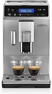 De'Longhi 德龍咖啡機Autentica ETAM 29.660.SB全自動咖啡機(數碼顯示,獨立牛奶系統,可拆卸水洗設計,一次萃取兩杯咖啡)銀色