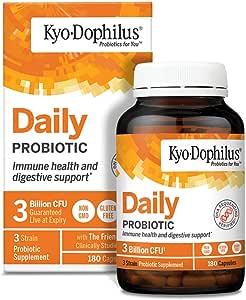 Kyolic Kyo-Dophilus 益生菌胶囊,180粒,不含大豆,不含麸质