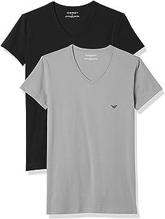 Emporio Armani 男式 111512cc717 短袖T恤 2件装