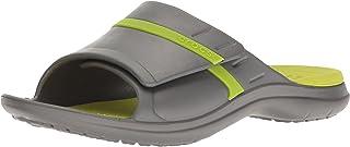 crocs MODI 运动拖鞋凉鞋 Graphite/Volt Green 12 US Men / 14 US Women