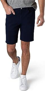 IZOD 男式休闲弹力牛仔短裤,经典 5 口袋设计,经典修身牛仔短裤,9.5 英寸内缝