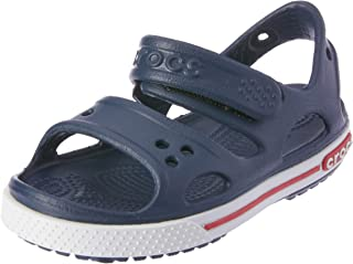 crocs Crocband II Sandal (Toddler/Little Kid/Big Kid), Sea Blue/White, 7 M US Toddler Crocband Ii Sandal Kids