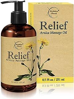 Relief Arnica 按摩油 - 适合运动和运动*按摩 - * - Arnica Montana 缓解肌肉*。 含有甜杏仁、荷荷巴、葡萄籽和精油 8.5盎司