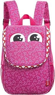 "ZIPIT 野生铅笔盒/铅笔盒/储物盒/午餐袋/背包 Lunch Bag + Straps 8.66"" x 3.94"" x 10.63"" (22 x 10 x 27 cm) 粉红色"