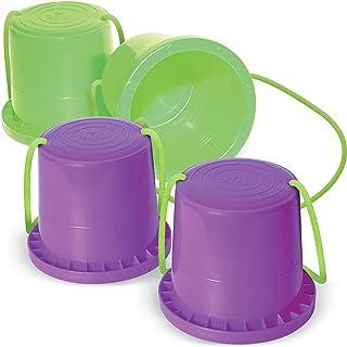 Geospace Walkaroo Ican Bucket Stilts 2 Pair 紫色和绿色